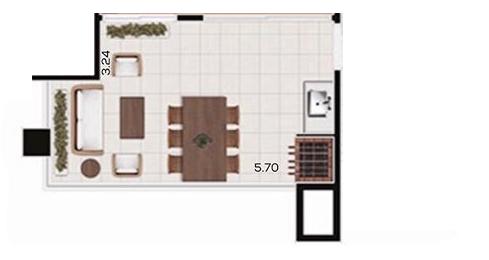 varanda de apartamento planta baixa apto 161