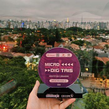 Ganhamos o prêmio microinfluenciadores digitais 2019